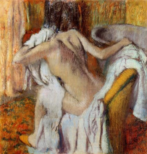 Hilaire-Germain-Edgar Degas - After the Bath, Woman drying herself, about 1890-5.