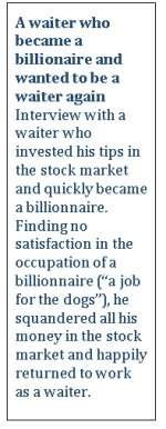 A waiter who became a billionaire
