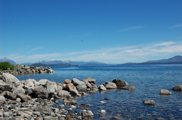View of the Andes from Nahuel Huapi Lake