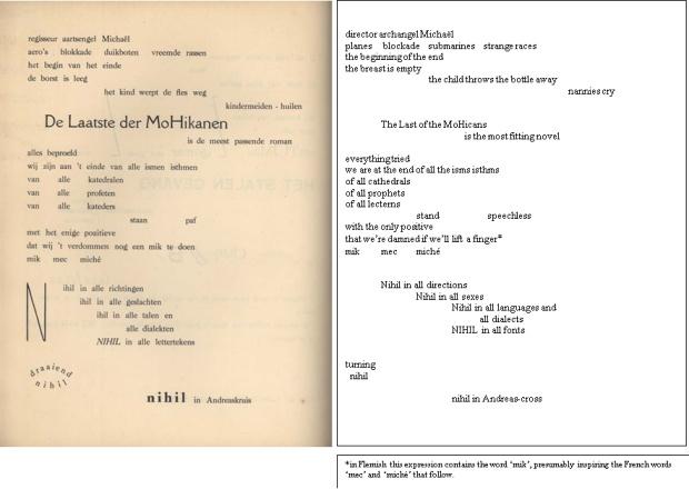 Van Ostaijen - De Laatse der MoHikanen