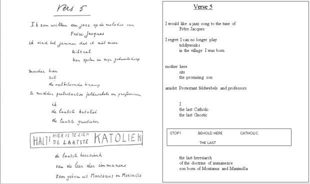 Van Ostaijen - Vers 5